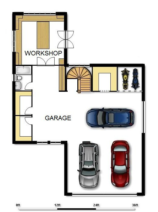 Garbage house floorplans building an alternative for Storage room plan