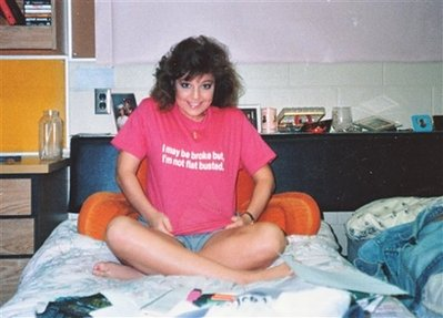 This undated photo provided by the Heath family shows Alaska Gov. Sarah Palin in her dorm room at the University of Idaho.