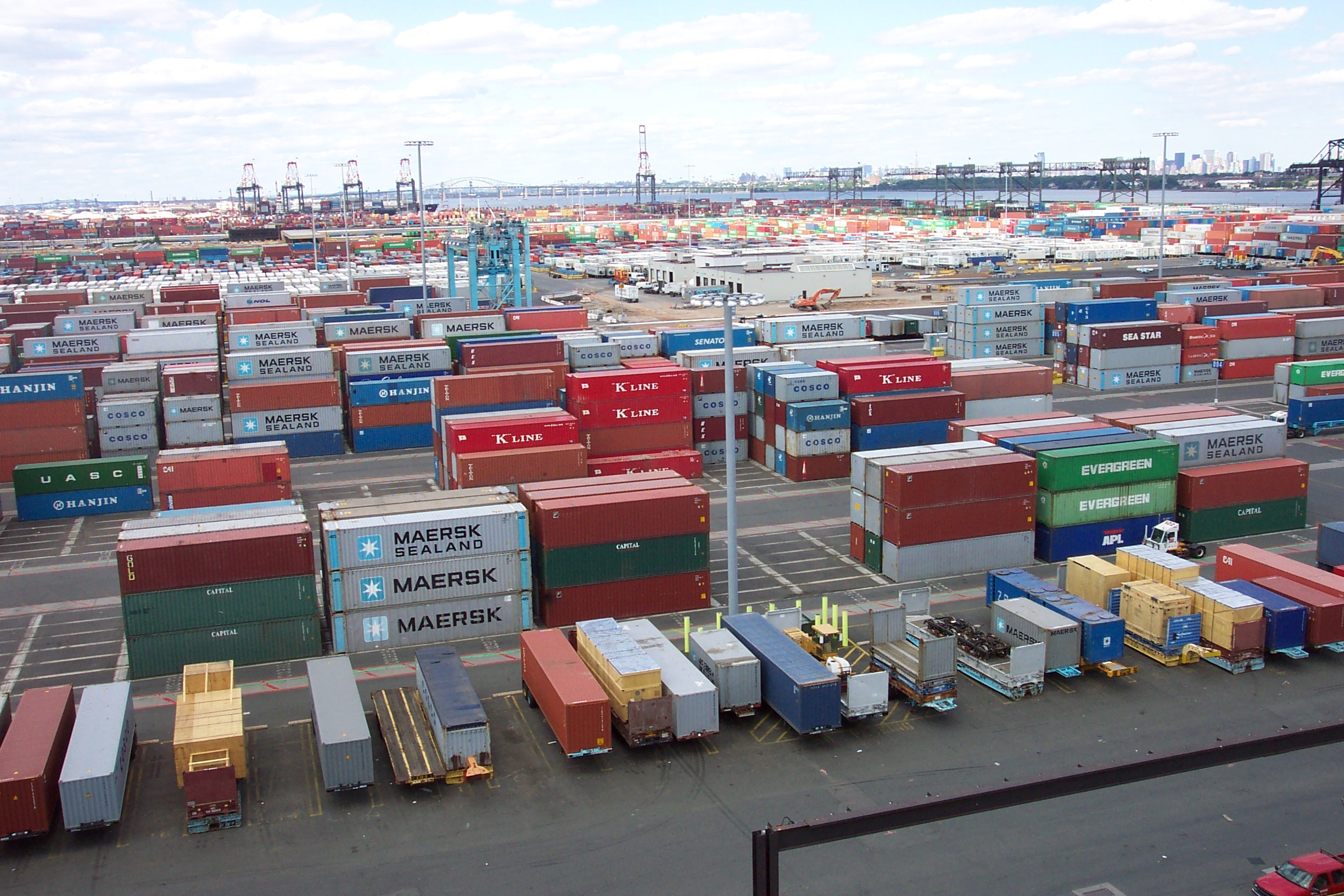 Shipping Containers At Port Elizabeth