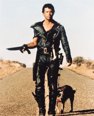 Mel Gibson as Max in the first of the  Mad Max  trilogy of 1979, directed by George Miller