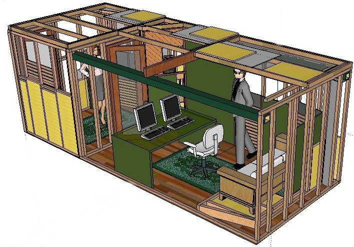 The many faces of a shipping container recording studio for Small recording studio plans