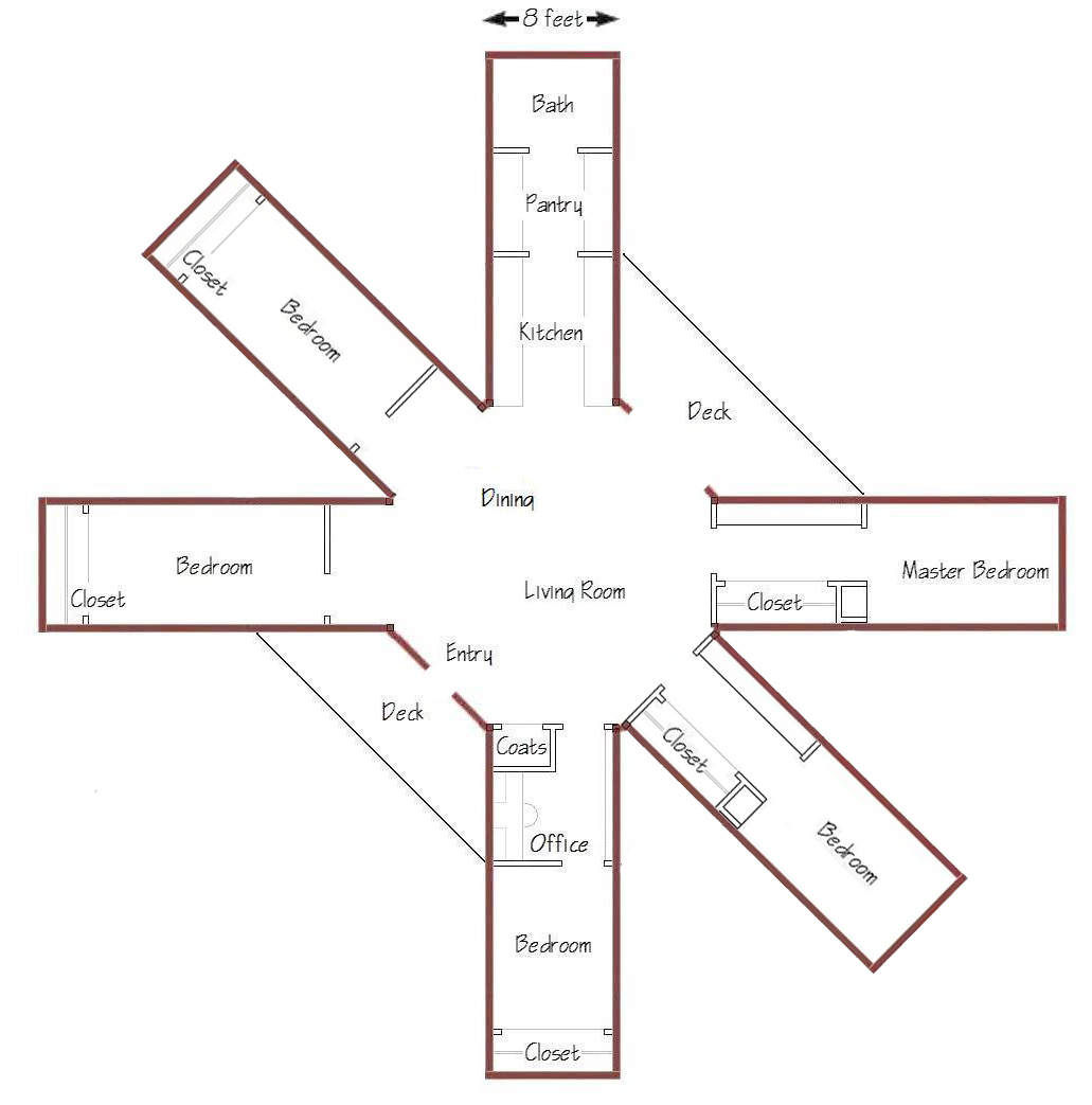 Octagon house floor plans furthermore small octagon house plans