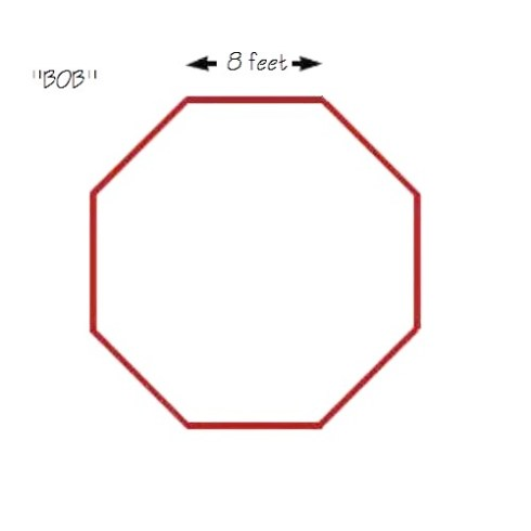 how to cut an octagon from a square