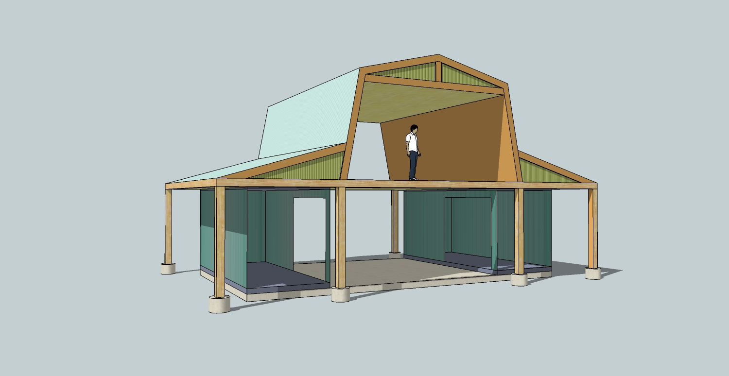 Denny yam plans for a small hen house Metal barn homes plans