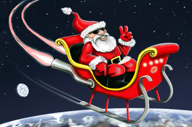 Santa And His Sleigh | New Calendar Template Site