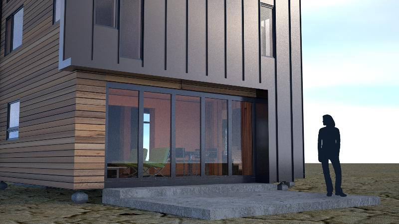 Eco pak isbu hybrid home update the life and times of for Vertical metal siding