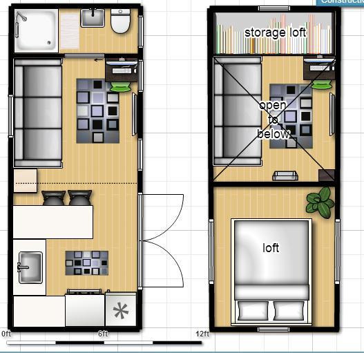 Floor plan for 8 x 40 shipping container home for Home design 8x16