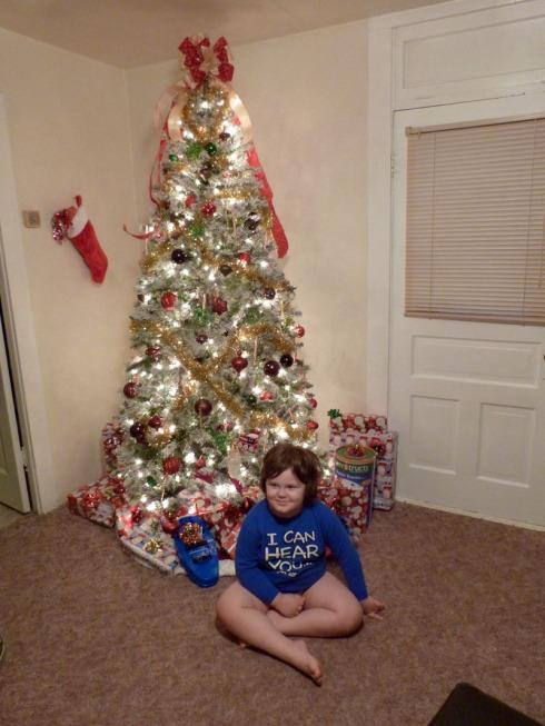 Christmas 2012 - Joshua gets the goods -sm