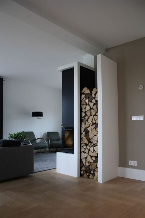 Wood Storage Ideas - Wrap Around Wing Wall