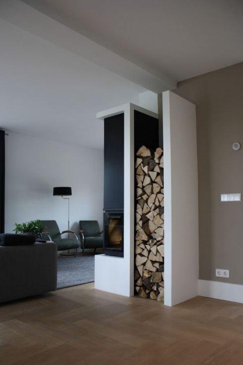 Wood Storage Ideas - Wrap Around Wing Wall