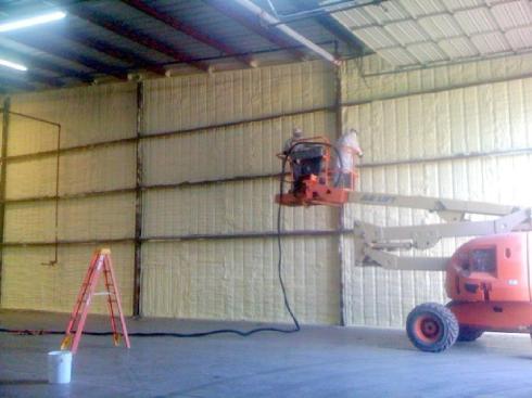 sprayfoam installation