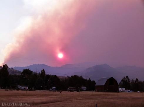 Sunset on Fire - web