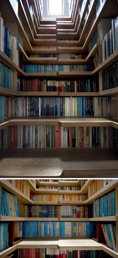 Alt tread bookcase stairs