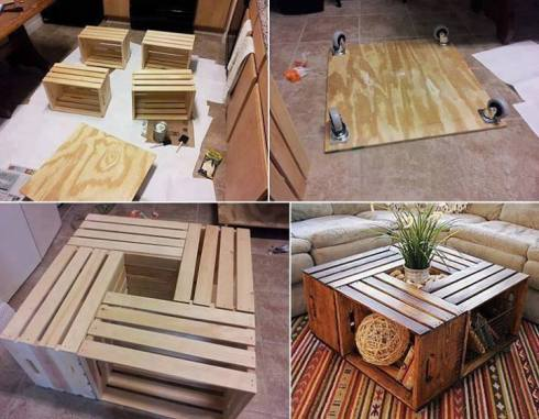Home Depot Wooden Crate furniture making projects