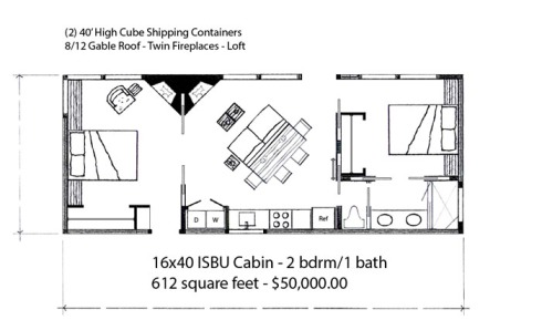 16x40 2 bdrm cabin - web