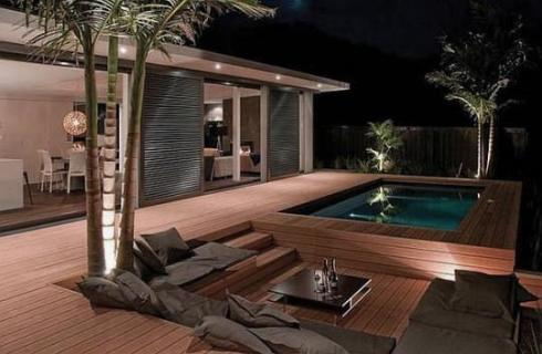 20 ft ISBU pool and lounge idea