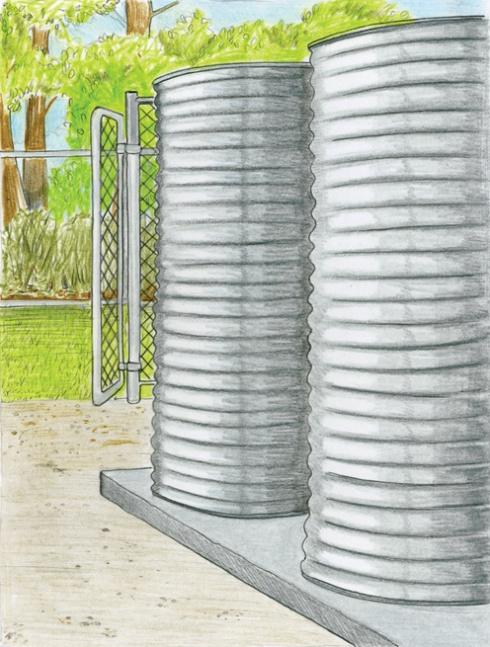 ferguson-residence- 2 - 1300 gallon -outdoor-rainwater-retention - tanks
