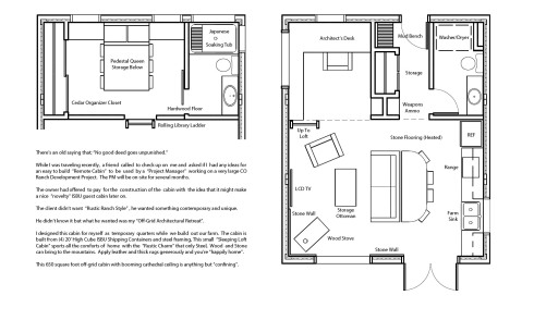 Amirage ISBU Guest Studio - 4x20HQ plus steel and SIPs-SSMR